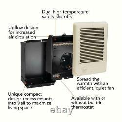 Electric Heater 1500-Watt 120-Volt Fan-Forced In-Wall Surface Mounted Almond NEW
