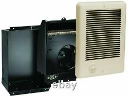 Electric Heater 1500-Watt 120-Volt Fan-Forced Unvented In-Wall Mount in Almond