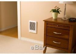 Electric Heater White 1500-Watt 120-Volt Fan Forced In-Wall Durable Fast-Heating