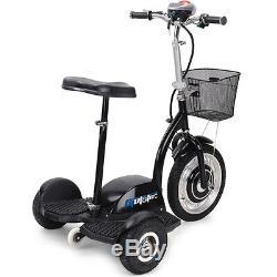 Electric Mobility Scooter Moto Tec 3 Wheel Trike 350 Watt Basket 36 Volt Travel