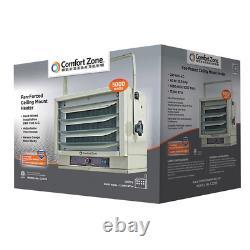Electric Utility Heater Fan Ceiling Mounted 5,000 Watt 240 Volts 60 Hz 17065 BTU