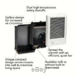 Electric Wall Heater 2000 Watt 240 Volt White Thermostat Automatic Shut-Off