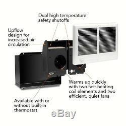 Electric Wall Heater Com-Pak Twin 4000Watt 240Volt built-in thermostatic control
