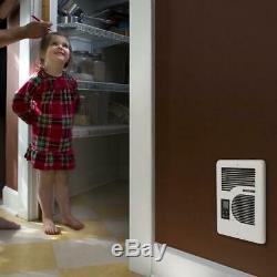Energyplus 1600-watt 120/240-volt in-wall electric wall heater in white cadet
