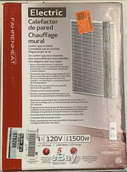FAHRENHEAT 120 Volt 1,500 Watt 5120 BTU/H Electric Wall Heater