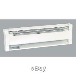 Fahrenheat 70 In. 1500-Watt 240-Volt Hydronic Electric Baseboard Heater, White