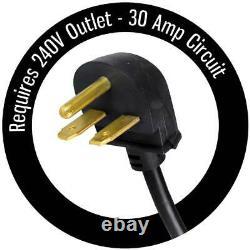 Garage Heater Electric 5600 Watt 120-Volt Built-in Adjustable Thermostat Black