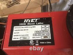 HYET 350 Watt WOOD LATHE. 14 DIAMETER. 40 LENGTH. 4 SPEED. 120 VOLT