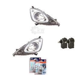 Headlight Set for Honda Jazz III Ge 07.08- H4 Incl. Osram Motor