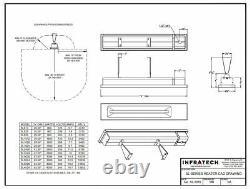 INFRATECH 42-1/2 2,400 Watt 240 Volt Wall Mount Electric Infrared Patio Heater