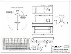 INFRATECH 61-1/4 4,000 Watt 240 Volt Wall Mount Stainless Steel Infrared Heater