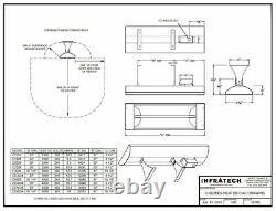 INFRATECH 61-1/4 6,000 Watt S/S Dual Element Electric Infrared Patio Heater