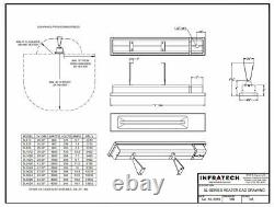 INFRATECH 63-1/2 4,000 Watt 240Volt Electric Infrared Patio Heater (OPEN BOX)