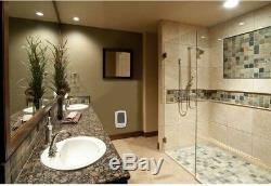 In Wall Fan Forced Bath Heater 1,000-Watt 120/240-Volt Bathroom Timer White