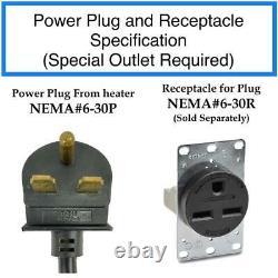 Industrial series 5600-Watt 240-Volt Portable Garage Heater with Thermostat