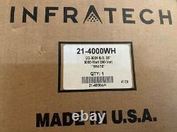 Infratech CD-3024 WH Stainless Steel 33 Dual Element Fixture 3000 Watt 240 Volt