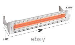 Infratech WD-4024 Stainless Steel 39 Dual Element Fixture 4000 Watt, 240 Volt