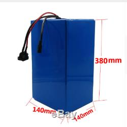 Lithium Battery 50AH 48V Volt Rechargeable Bicycle E Bike Electric Li-ion Watt