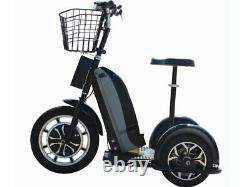 Moto Tec 48 Volt 800 Watt Electric Trike Personal Transporter