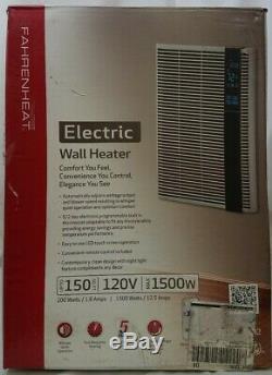 NEW! FAHRENHEAT 120 Volt 1,500 Watt 5120 BTU/H Electric Wall Heater