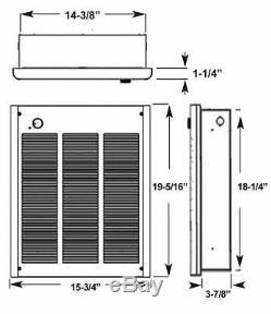NEW Fahrenheat 3,000-Watt 240-Volt Forced Air Large Room Wall Heater FZL3004F