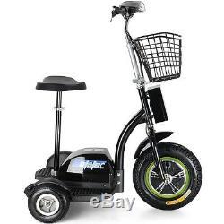 NEW! MotoTec Stand or Sit Electric Trike 500 Watt, 48 Volt Battery, 22+ MPH