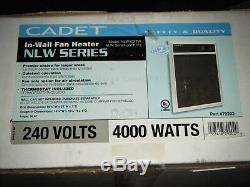 NLW Series 4,000-Watt 240/208-Volt In-Wall Fan-Forced Electric Heater 4000