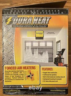 New! Duraheat 4800 Watt/16,400 Btu/220 Volt Mountable/portable Electric Fan
