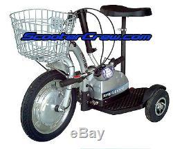 New RMB Flex 500 Watt 48 volts Trike Electric EV Travel SCOOTER Mobility Basket