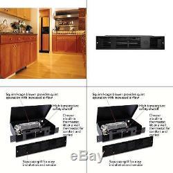 Perfectoe 1000 Watt 240 Volt Fan Forced Under Cabinet Electric Heater Black New