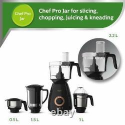 Philips HL7707/00 750-Watt Mixer Grinder, 4 jars, 220-240-Volt (Black) Free Shipp
