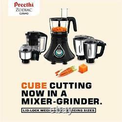 Preethi Zodiac Cosmo MG-236 Mixer Grinder 750-Watt 5 Jars, 220-240 Volt (Black)