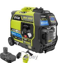 RYOBI Bluetooth 2,300 Starting Watt ONE+ 18-Volt Electric Start Gasoline