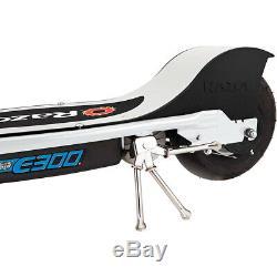 Razor E300 24 Volt Electric 250-Watt Motorized Scooter-White/Blue-13113610 Ope