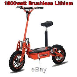 Super 1800 watt Lithium Brushless 48v 50a Electric Scooter, worlds fastest 40mph