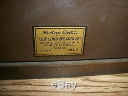 Vintage Western Electric 100f Loud Speaker 105-125 Volts -0.4 Amps 50 Watts DC O