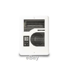 Wall Electric Wall Heater Energy Plus 1600-Watt 120/240-Volt White Surface Mount