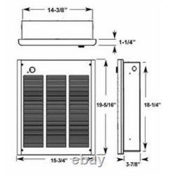 Wall Heater Fahrenheat FZL4004 240 volt High Output Forced Air Heater 4000-watt