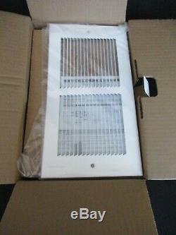 White Cadet Register RMC151W Multi-Watt 120-Volt In-Wall Fan-Forced Heater